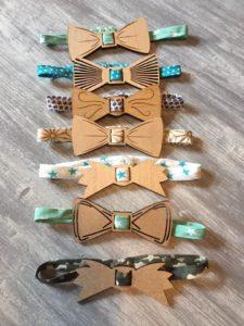 Noeuds papillons déclinés en porte-serviettes
