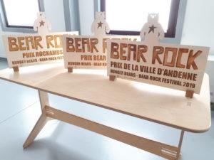 Trophées pour le Bear Rock Festival d'Andenne