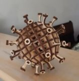 Maquette de coronavirus / puzzle